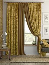 Комплект штор ТомДом Пайд (коричнево-золотой)
