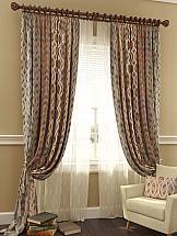Комплект штор ТомДом Робиш (серо-коричневый) комплект штор томдом люсфильд серо коричневый