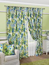 цена на Комплект штор ТомДом Касли (сине-зеленый)