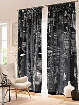 Комплект фотоштор ТомДом Черно-белый Нью-Йорк комплект фотоштор томдом черно белый город
