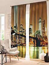 Комплект фотоштор ТомДом Вечерний Бруклинский мост