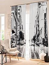 купить Комплект фотоштор ТомДом Черно-белый Сан-Франциско по цене 4920 рублей