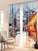 Комплект фотоштор ТомДом Рождественский базар комплект фотоштор томдом сьюти
