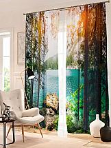 Комплект фотоштор ТомДом Озеро в горах шторы томдом фотошторы озеро комо