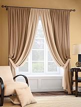 Комплект штор ТомДом Фонти (бежево-коричневый) silk place c cn3 2001fk a комплект дивандеков бежево коричневый