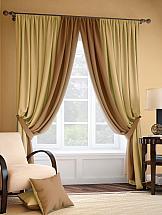 Комплект штор ТомДом Фонти (коричнево-золотой)