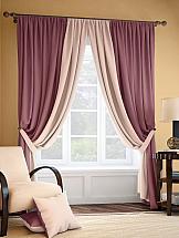 Комплект штор ТомДом Фонти (розово-сливовый)