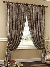 Комплект штор ТомДом Теренци (серо-коричневый) комплект штор томдом люсфильд серо коричневый