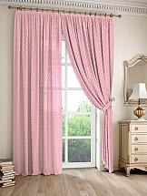 Комплект штор ТомДом Дрош (розовый) шторы для комнаты tomdom комплект штор агно розовый 260 см