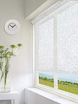 Рулонная штора ТомДом Мини (Мари белый) - ширина 43 см. рулонная штора томдом мини мари коричневый