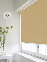 Рулонная штора ТомДом Мини (Магнолия темно бежевый) - ширина 73 см. кухонный диван мебелико милан микровельвет фиолетовый белый левый