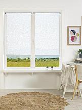 Рулонная штора ТомДом Мини (Саманта белый) - ширина 73 см. картина магазин гобеленов букет подсолнухи 39 73 см гобелен