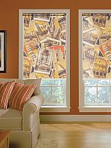 Рулонная штора ТомДом Мини (Мелисса коричневый) - ширина 62 см.