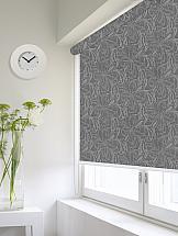 Рулонная штора ТомДом Мини (Монарда темно серый) - ширина 43 см. штора рулонная сити 60х175 см цвет серый
