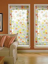 Рулонная штора ТомДом Мини (Такка оранжевый) - ширина 57 см. шторы рулонные ролло идея рулонная штора ролло lux samba цветы зеленый оранжевый желтый 160 см