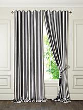 Комплект штор ТомДом Ждан (серебро). Подшит: 250 см Левая. комплект штор haft цвет стальной высота 250 см 28890 250