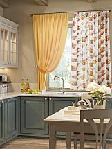 Комплект штор ТомДом Примула (оранжевый) комплект штор тд текстиль шик на ленте цвет оранжевый высота 180 см 92528