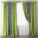 Комплект штор ТомДом Кирстен (зеленый-серый) комплект штор zlata korunka 2 шторы 160 х 270 см тюль 330 х 270 см 777317