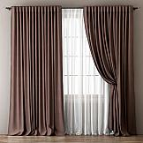 Комплект штор ТомДом Фиелит (коричневый)