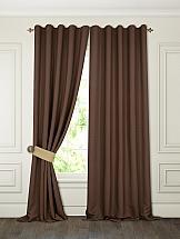 Комплект штор ТомДом Тиаго (коричневый) комплект штор томдом сарада золотой с подхватами