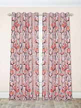 Комплект штор ТомДом Грати (бежево-розовый) шторы для комнаты tomdom комплект штор агно розовый 260 см