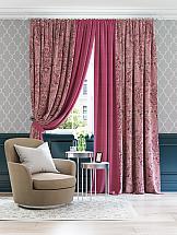Комплект штор ТомДом Маола (пурпурно-розовый)