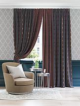 Фото - Комплект штор ТомДом Миами (антрацит с бордо) шторы для комнаты реалтекс комплект штор 030 бордо