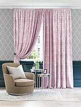 цена Комплект штор ТомДом Минти (пастельно-розовый). Подшит: 255 см с подхватами онлайн в 2017 году