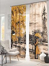 Комплект фотоштор ТомДом Осенний Тауэр шторы томдом фотошторы осенний дуб