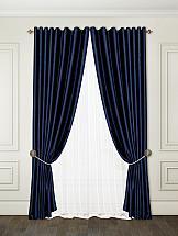 Комплект штор ТомДом Алиями (темно-синий)