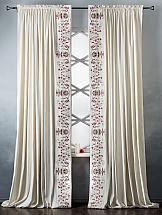 Комплект штор ТомДом Притиль (белый) комплект штор томдом легия к белый