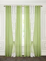 Комплект штор ТомДом Амелия (зеленый)
