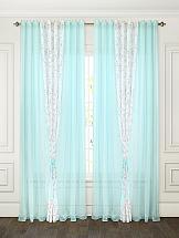 Комплект штор ТомДом Амелия (голубой)
