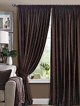Комплект штор ТомДом Таген (темно-коричневый) портьеры ранди коричневый