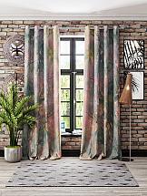 цены Комплект штор ТомДом Мрауни (серо-розовый)