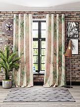 Комплект штор ТомДом Мрауни (зелено-розовый) цена