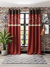 Фото - Комплект штор ТомДом Вербиль (бордо) шторы для комнаты реалтекс комплект штор 030 бордо