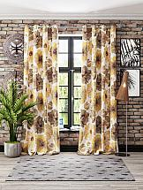 Комплект штор ТомДом Флораида (желтый) комплект штор томдом перри желтый