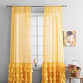 Комплект штор ТомДом Ноа (желтый) комплект штор томдом антика перламутрово оранжевый