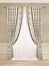 Комплект штор ТомДом Равгиз (бежево-коричневый) silk place c cn3 2001fk a комплект дивандеков бежево коричневый