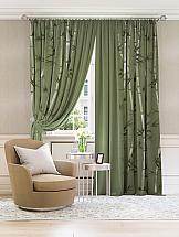 Комплект штор ТомДом Бэмбикия (зеленый) комплект штор томдом этельн зеленый