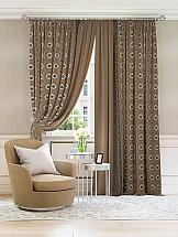 Комплект штор ТомДом Мизрил (коричневый) комплект штор томдом карас мятно коричневый