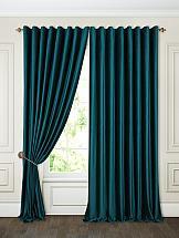 Фото - Комплект штор ТомДом Бруад (изумруд) комплект штор томдом бруад синий