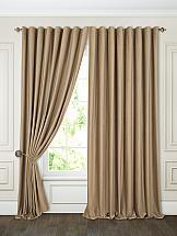 Комплект штор ТомДом Бруад (пыльно-серо-коричневый) портьеры ранди коричневый