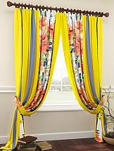 Комплект штор ТомДом Комблион (желтый) комплект штор томдом перри желтый