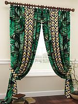 Комплект штор ТомДом Кролс (зеленый) комплект штор томдом клэнтон зеленый