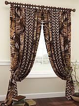 Комплект штор ТомДом Кролс (коричневый) комплект штор томдом элонар коричневый