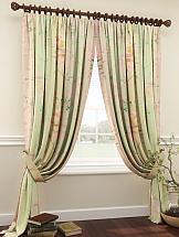 Комплект штор ТомДом Фрисли (зеленый) комплект штор томдом этельн зеленый