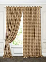 Комплект штор ТомДом Филок (коричневый) комплект штор томдом карас мятно коричневый