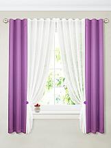 Комплект штор ТомДом Терей (фиолет) комплект штор тд текстиль шик на ленте цвет оранжевый высота 180 см 92528